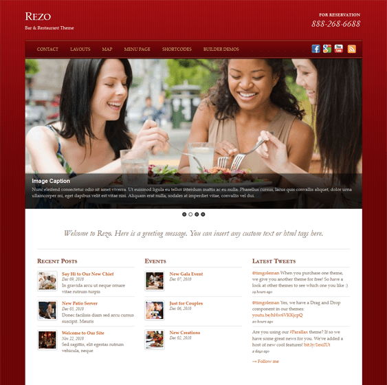 rezo restaurant wordpress theme