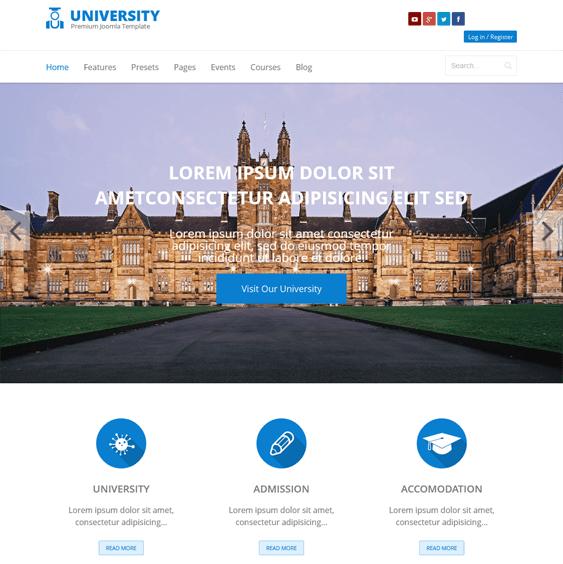 shaper university jomsocial joomla template