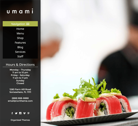 umami Asian Restaurant Responsive WordPress Theme