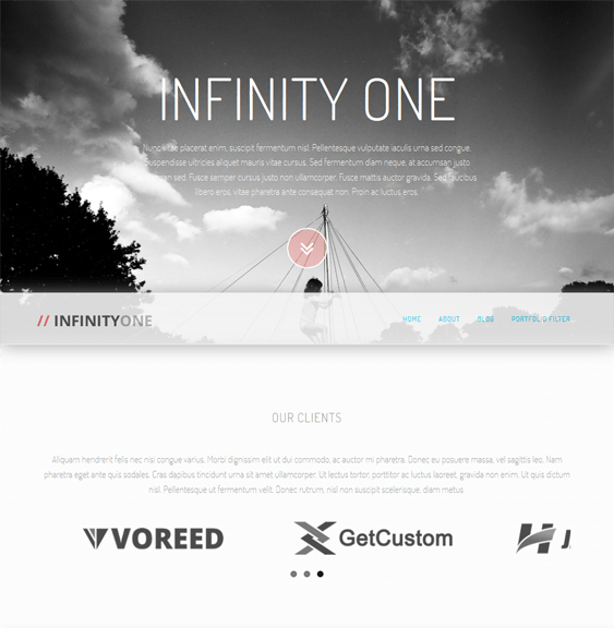 infinityone parallax wordpress themes