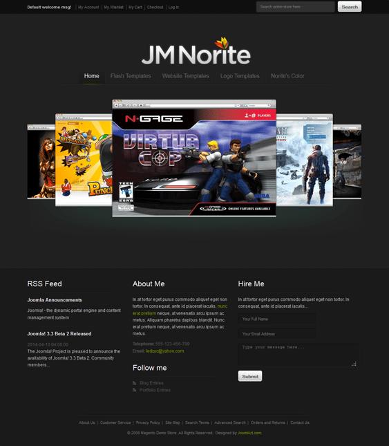 jm norite dark magento theme