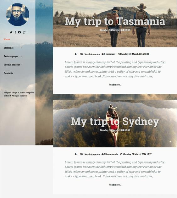 traveler travel joomla template
