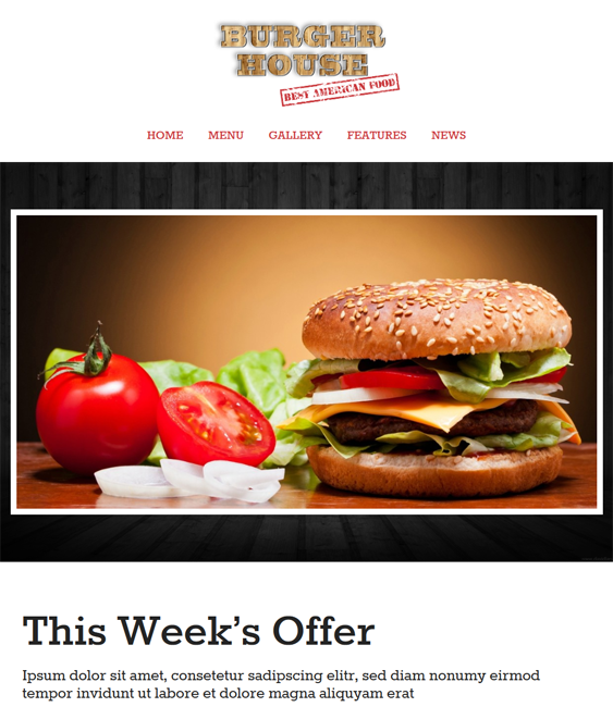 burgerhouse restaurant wordpress theme