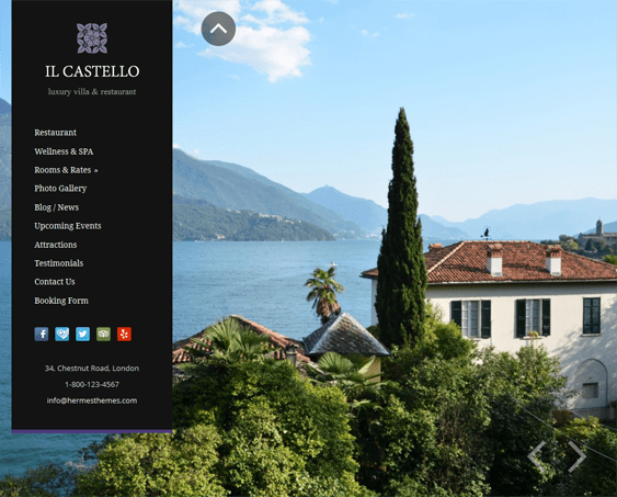castello hotel wordpress theme