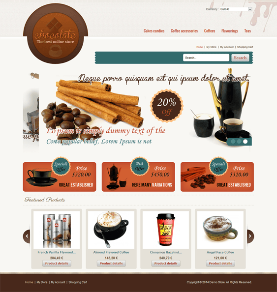 chocolate virtuemart template