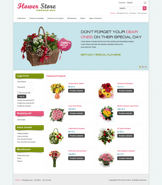 flower virtuemart template