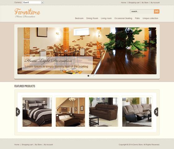 furniture virtuemart template