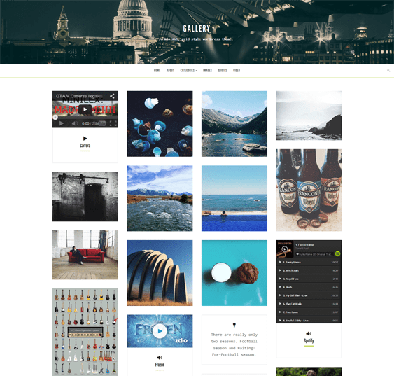 gallery masonry wordpress portfolio theme