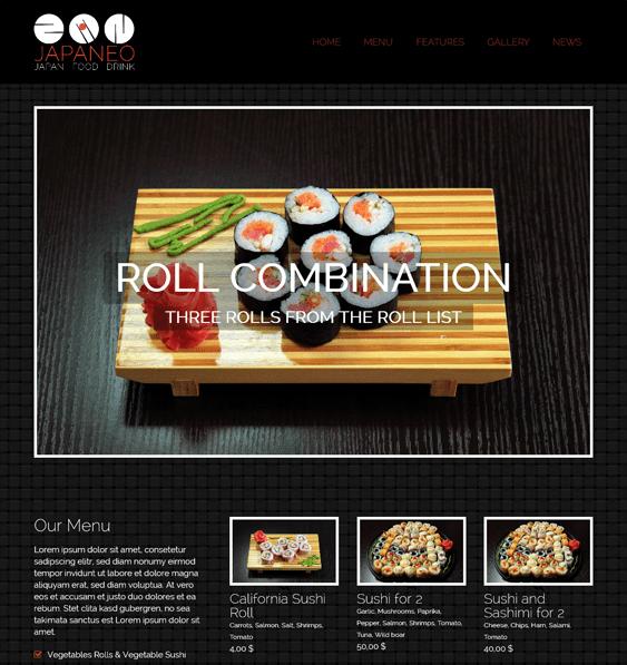 japaneo Asian Restaurant Responsive WordPress Theme