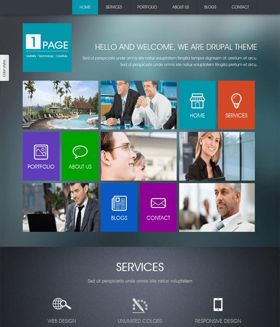 onepage drupal theme