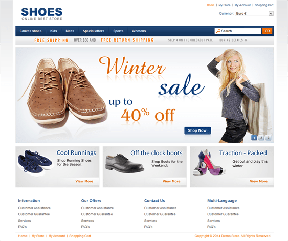 shoes virtuemart template