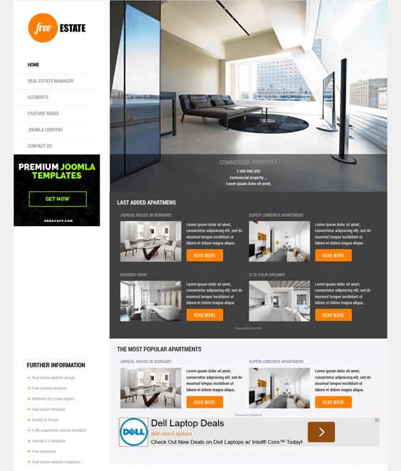 6 of the best real estate joomla templates down. Black Bedroom Furniture Sets. Home Design Ideas