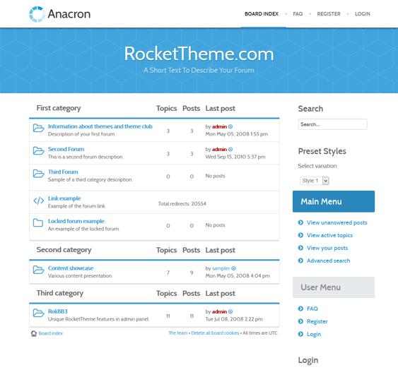 anacron responsive phpbb3 themes