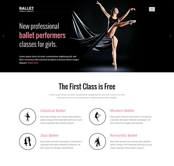 ballet education joomla templates