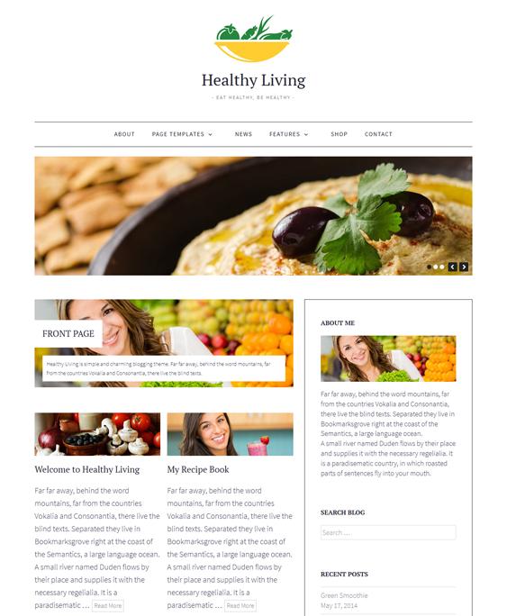 healthyliving food recipe baking cooking wordpress theme