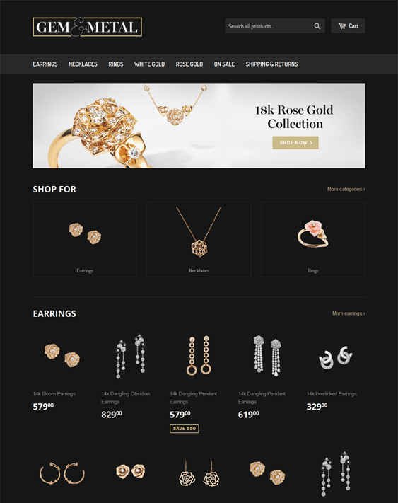 supply dark watch jewelry shopify theme