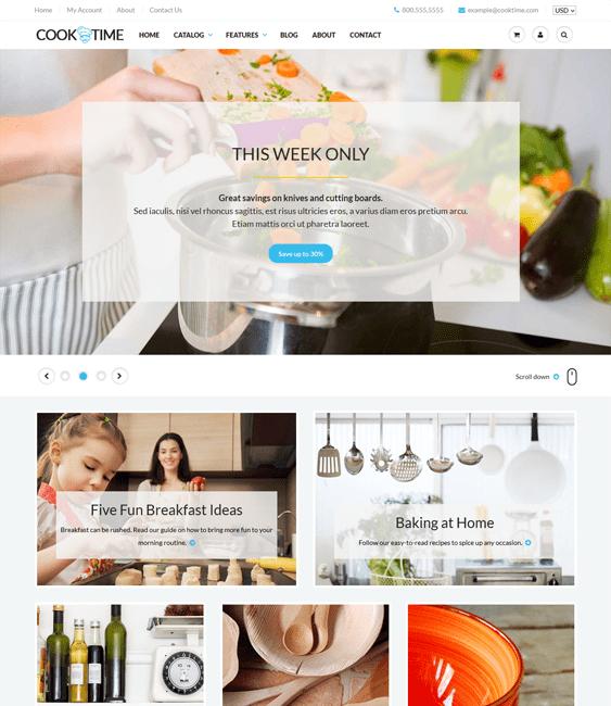 cooktime free minimal shopify theme