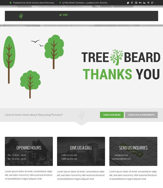eco organic eco-friendly wordpress theme