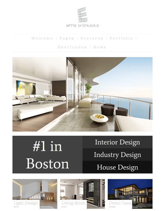 eiffel architect wordpress theme