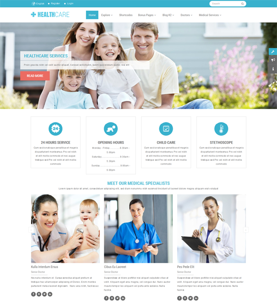 sj healthcare medical joomla templates