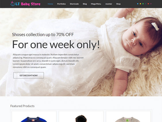 LT-Baby-Shop kids joomla templates