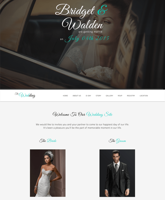 the wedding wordpress themes