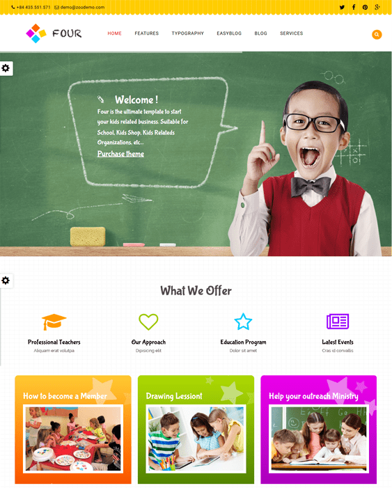 zt four kids joomla templates