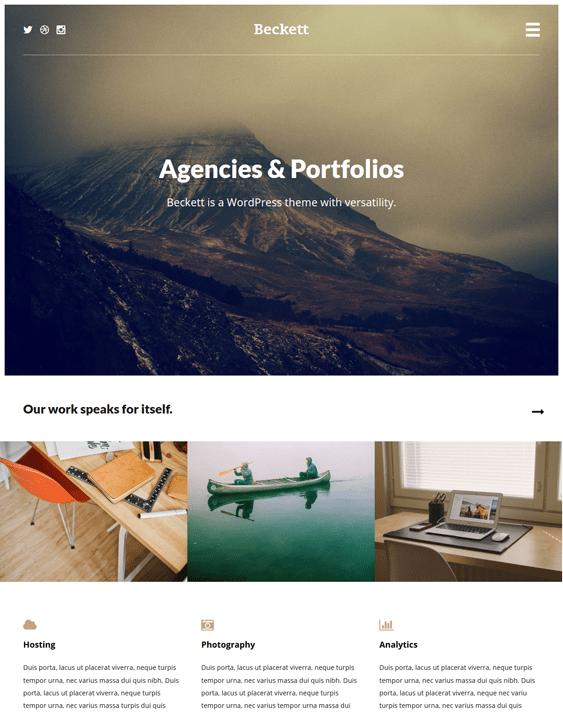 beckett portfolio wordpress themes