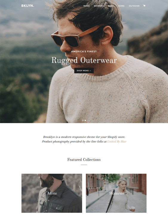 brooklyn minimal shopify theme
