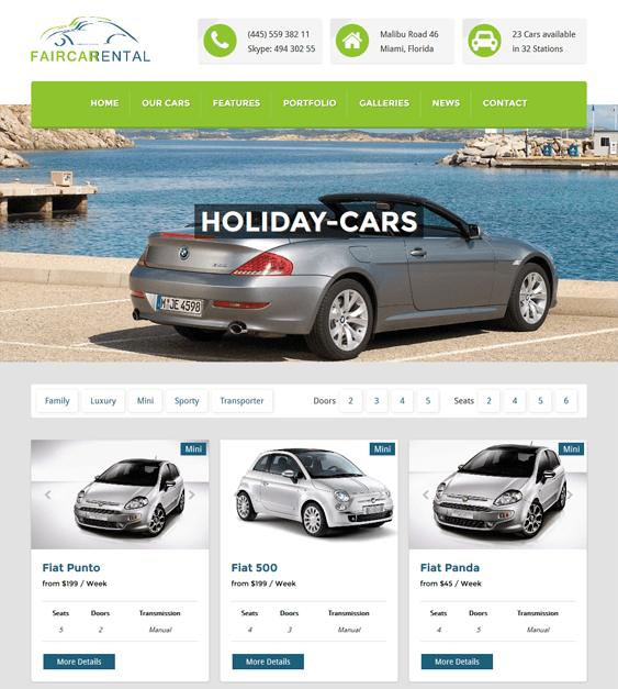 faircar car vehicle automotive wordpress theme