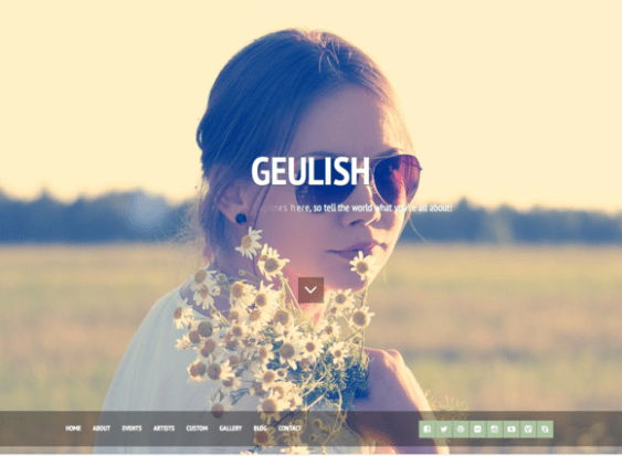 geulish modeling agency wordpress theme