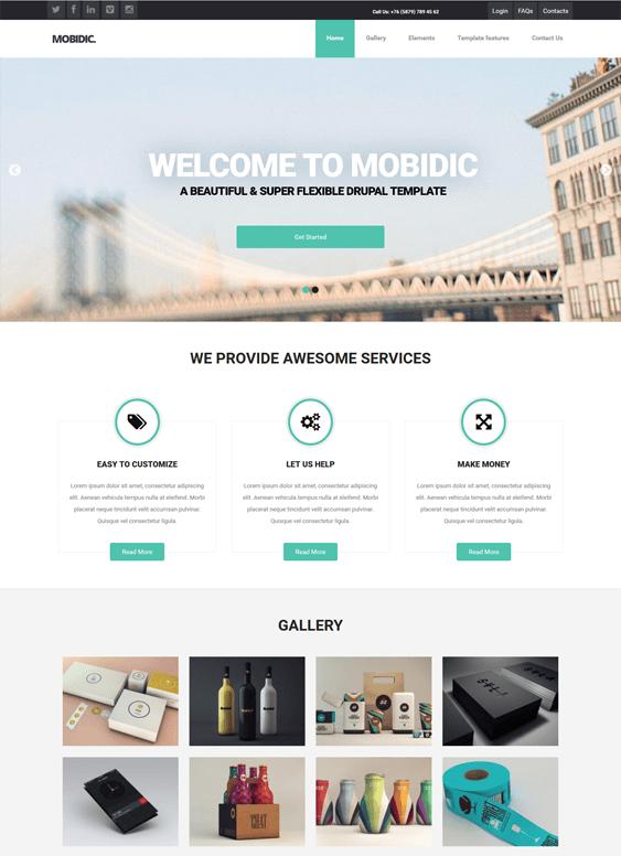 mobidic portfolio drupal theme