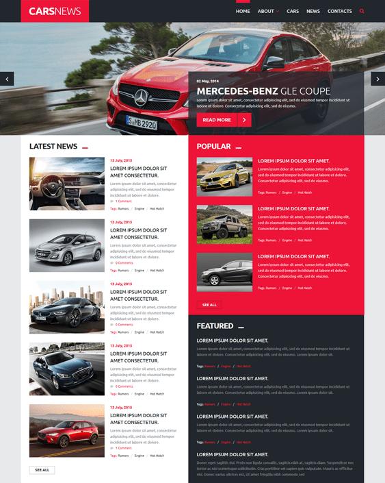 car news car vehicle automotive joomla templates