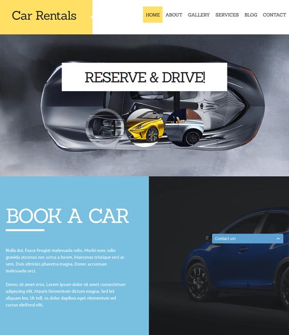 car rental car vehicle automotive joomla templates