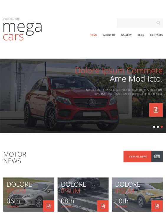 cars fan car vehicle automotive joomla templates
