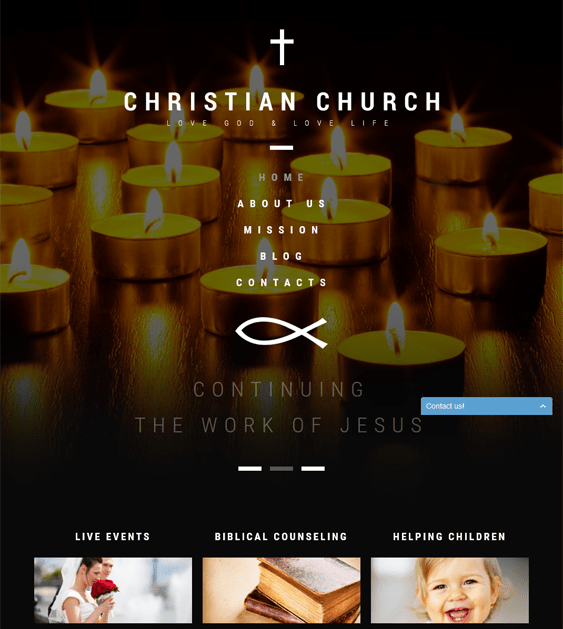 christian dark wordpress themes