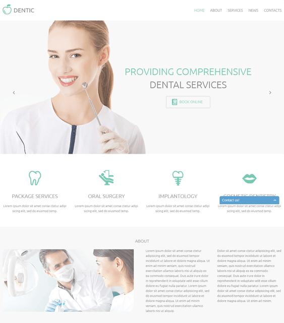 dentic medical wordpress theme