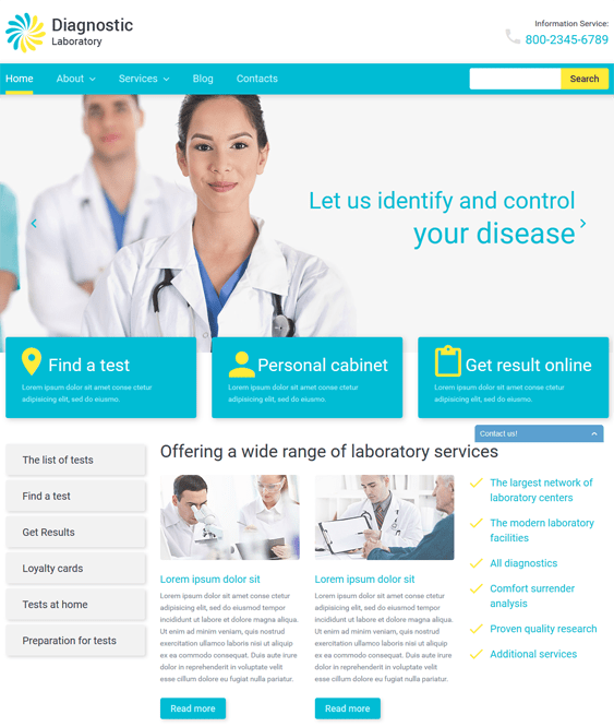 diagnostic medical wordpress theme