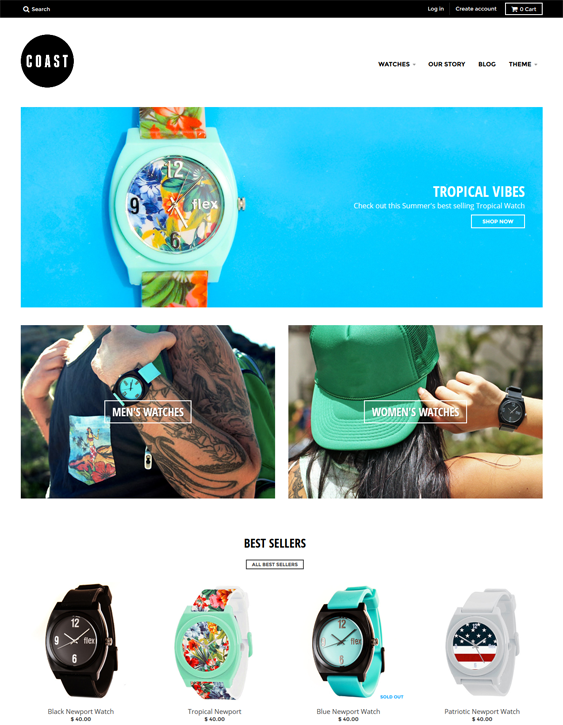 district coast watch jewelry shopify theme