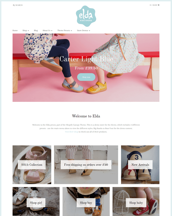 elda shoe store shopify themes