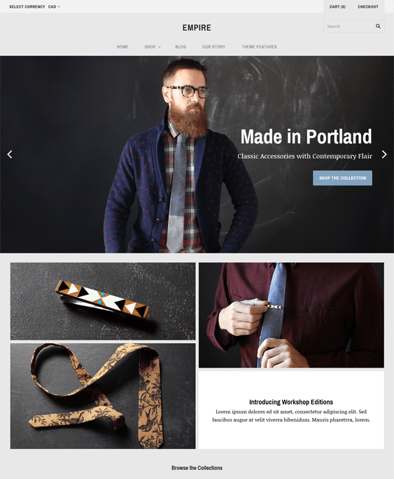 grid moody shopify themes clothing stores