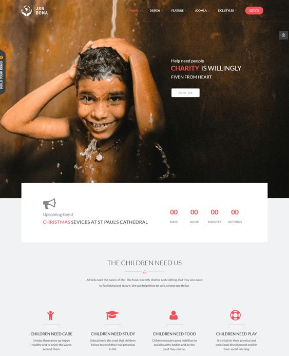 jsn dona charity nonprofit joomla theme