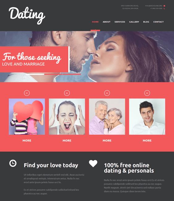 Online dating joomla template