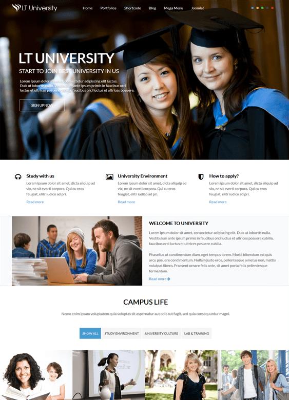 lt university education joomla theme