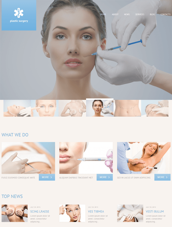 wordpress themes plastic surgeons cosmetic surgery centers