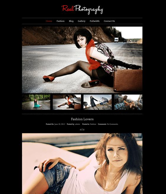 real photography dark wordpress theme