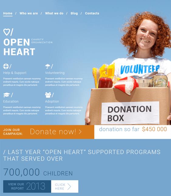 trustworthy charity nonprofit joomla templates