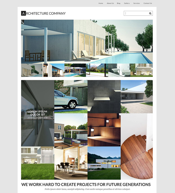 architects wordpress themes
