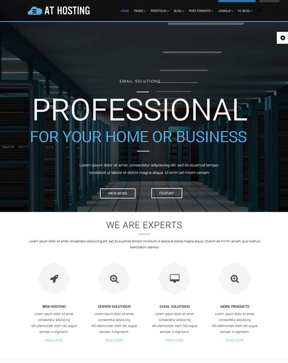 at hosting web hosting joomla templates