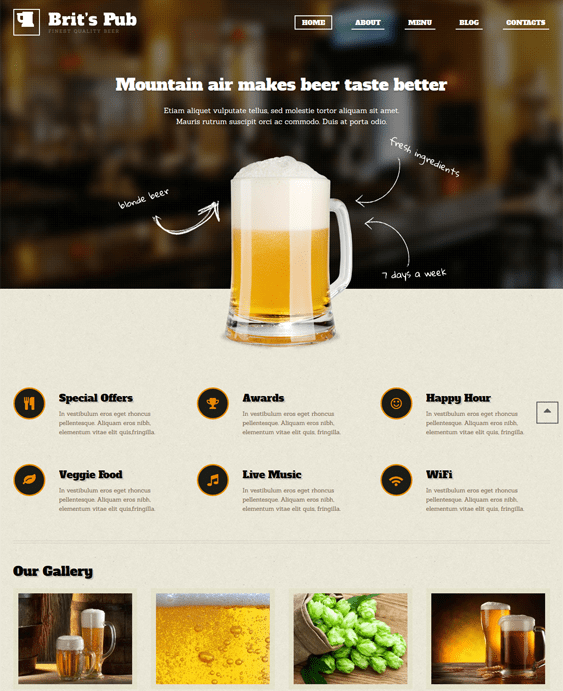 9 of the Best Brewery WordPress Themes - down